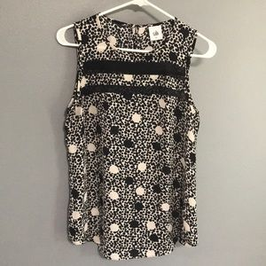 CAbi Black and White Tank sz S